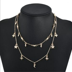 Multilayer Necklace The Stars and The Moon
